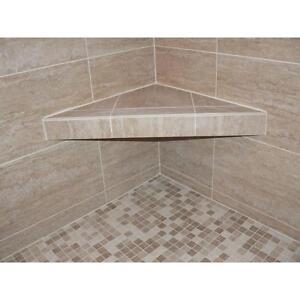 2430 Inch Shower Corner Triangle Seat Support Shelf Bathroom Tile