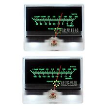 2pcs Panel Vu Meter Header Tn 90a Db Audio Power Amplifier Chassis With Backlight