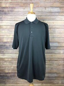 1cc062a39 Details about PGA Tour Men's XL Airflux Grey & Black Short Sleeve Polo Golf  Shirt Polyester