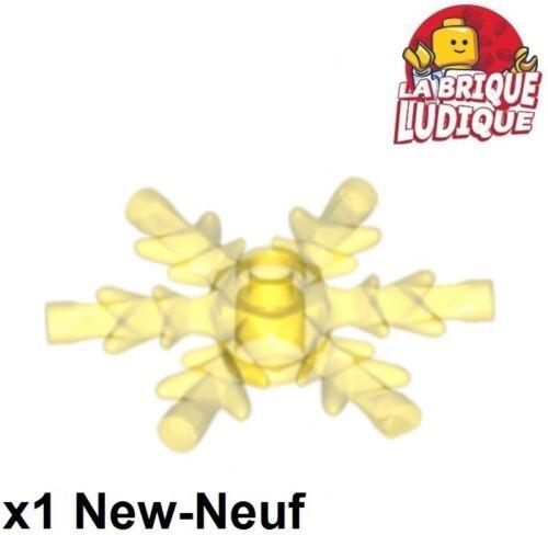 Lego 1x Snowflake Star Star Ice Ice Crystal Yellow Trans Yellow x789 New