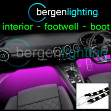 2X 375MM PINK INTERIOR UNDER DASH/SEAT 12V SMD5050 DRL MOOD LIGHTING STRIPS