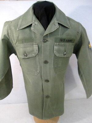 Vtg 1974 US Army OG 107 Utility Shirt NOS  Vietnam Era Poplin Womens 18 Rip Stop