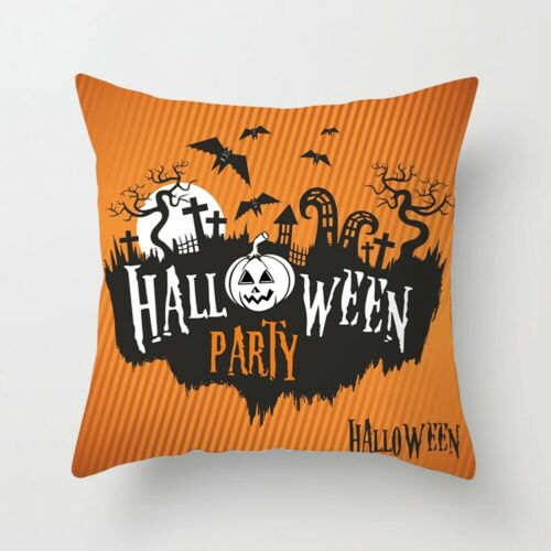 Halloween Pumpkin Ghost Witch Throw Pillow Case Cushion Cover Home Sofa Decor