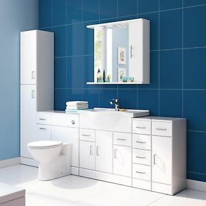 image is loading high gloss white modern bathroom furniture designer drawer