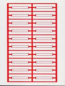 Image Is Loading 240 Red White Blank Jukebox Le Strips 12