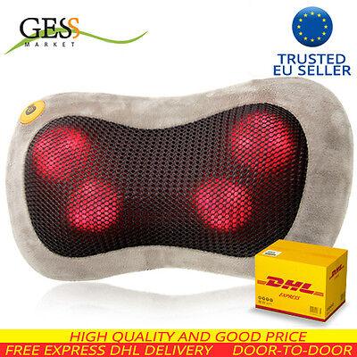 GESS uShiatsu Massager. Ergonomic neck, shoulder pillow. Migraine pain relief