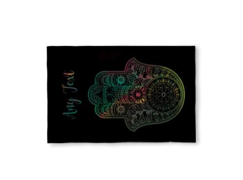 """58/"""" X 39/"""" personnalisé microfibre Yoga Design Serviette de plage noir Fatma symbole"""