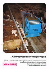Mengele - Automatische Fütterungswagen, orig. Prospekt 1971