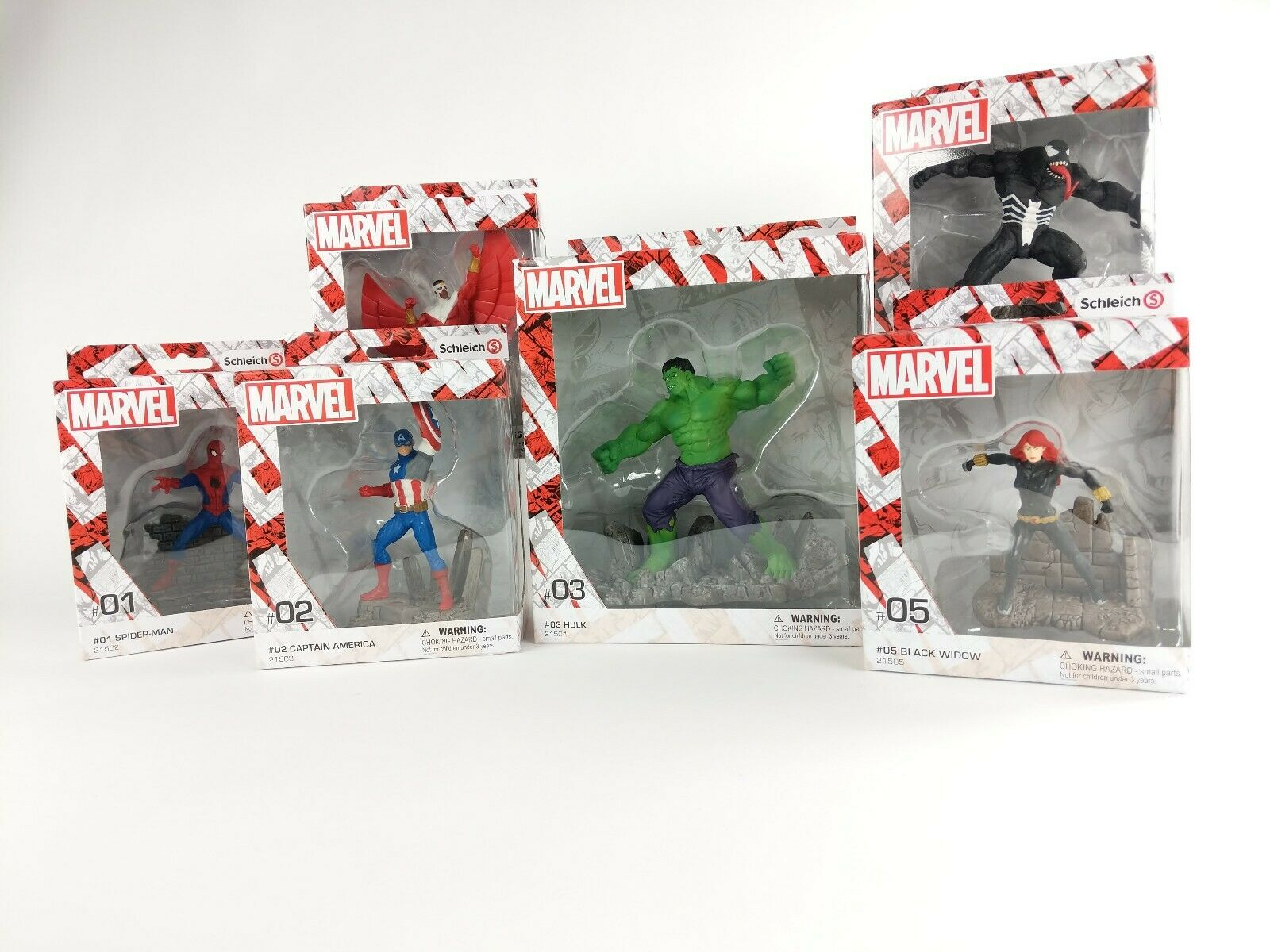 NEW & SEALED Marvel Comics by Schleich Hand-painted Figurine Set-SHIPS WORLDWIDE