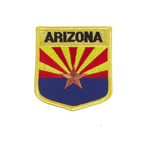 NEW ARIZONA USA STATE SHIELD FLAG EMBROIDERED IRON-ON PATCH CREST BADGE .