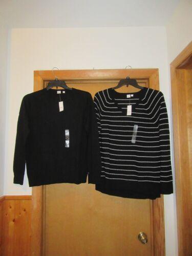 Long Sleeve Women/'s Sweaters size XL Gap color Black /& Black Striped NWT