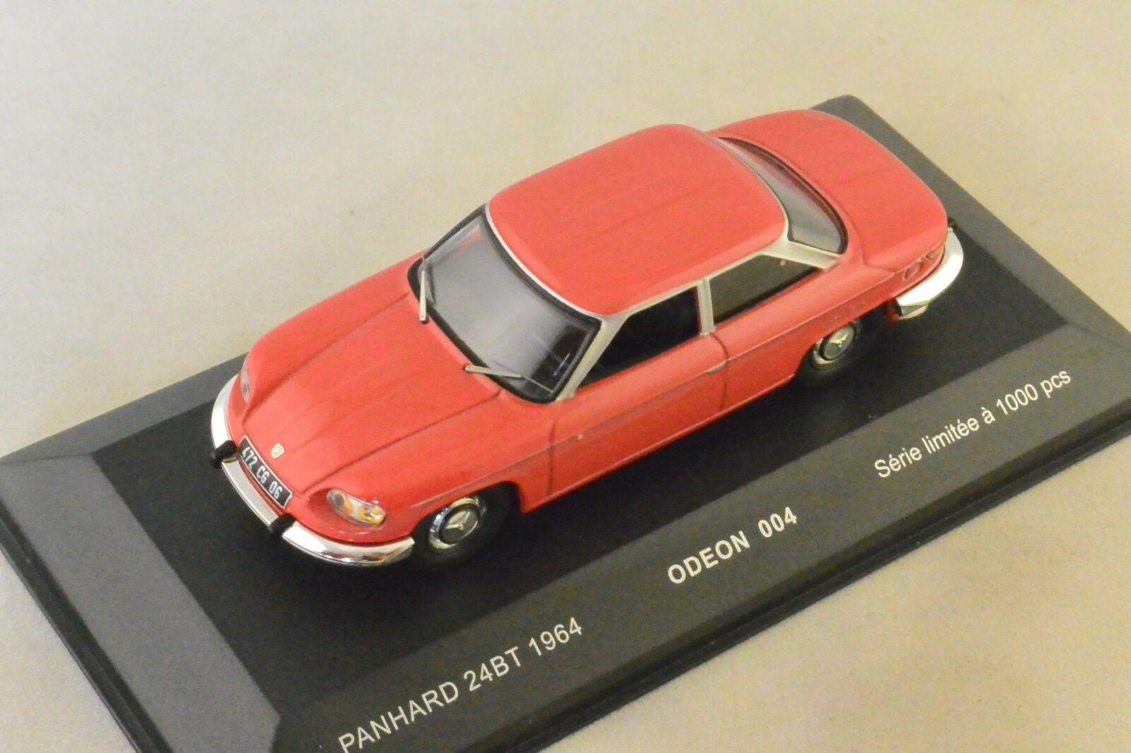 ODEON 004 - PANHARD 24 BT 1964 ROUGE  1 43