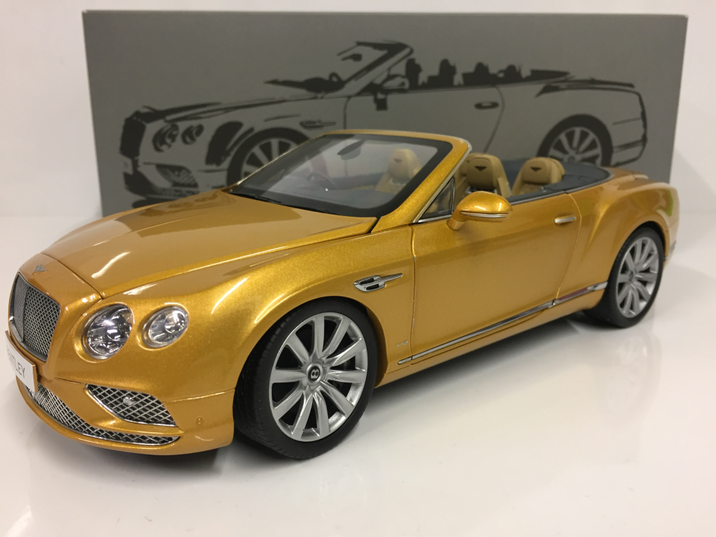 Bentley continental gt 2016 conv rhd sunburst Gold 1,18 paragon