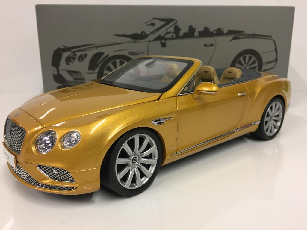 Bentley Continental GT 2016 CONV RHD Sunburst gold 1 18 PARAGON