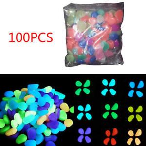 100pcs-Glow-in-The-Dark-Stones-FISH-TANK-AQUARIUM-Pebbles-Rock-Garden-Road-Decor