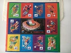 Juste Planche Timbre France Coupe Du Monde 1998