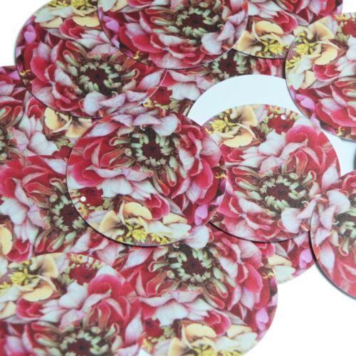 "Round Sequin 1.5/"" Giant Floppy Pink Flower Floral Petals Opaque"