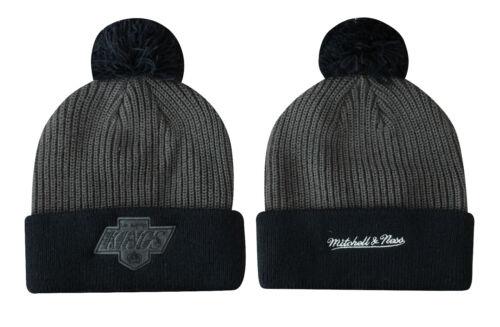 Mitchell /& Ness LA Kings Adult Bobble Winter Hat Beanie Navy Grey EU279 WB UW50