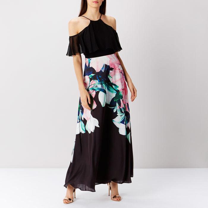 Coast Flamenco Print Maxi Dress Größe rrp  LS172 TT 04