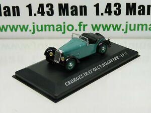 AUT34M-Voiture-1-43-IXO-altaya-Voitures-d-039-autrefois-Georges-Irat-OLC3-Roadster