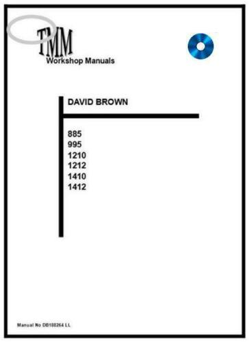David BrownTMM 885 995 1210 1212 1410 1412 Workshop Manual  Digital