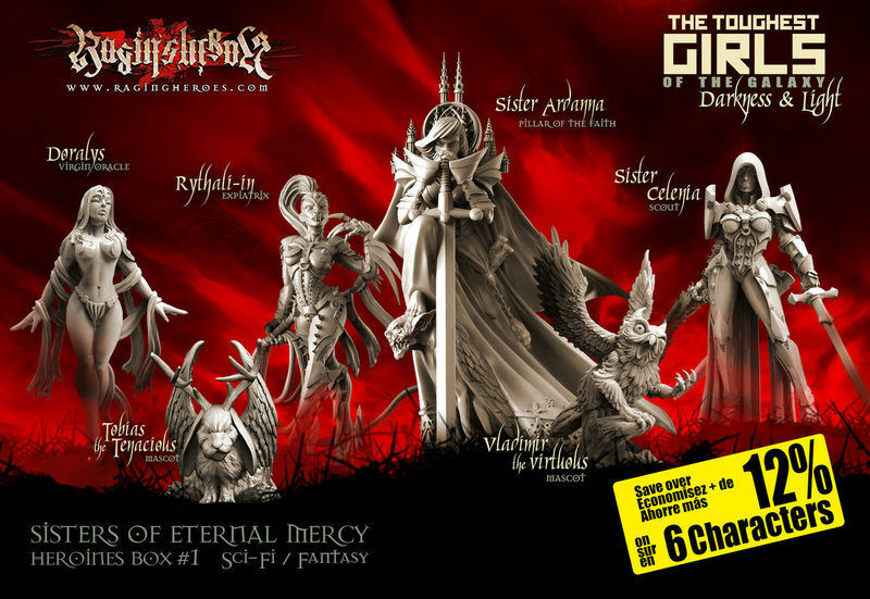 Raging Heroes Sisters of Eternal Mercy Heroines Box 1 Box Set