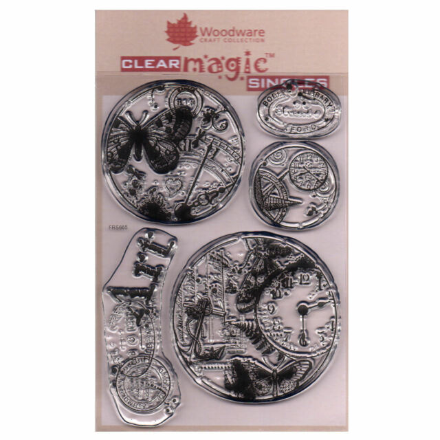 Woodware A6 Clear Cling Stamps - FRS665 Vintage Circles