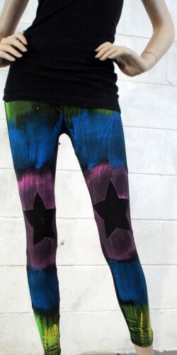 2019 Womens Leggings Painted Pants Stretchy Black Union Jack Flags Stars Stripes
