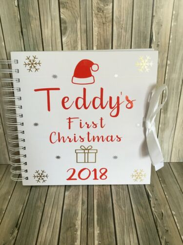 Personalised MY FIRST christmas Memory Book//photo Album