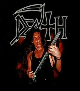 DEATH-cd-lgo-CHUCK-SCHULDINER-Official-SHIRT-SMALL-New-lead-singer-photo
