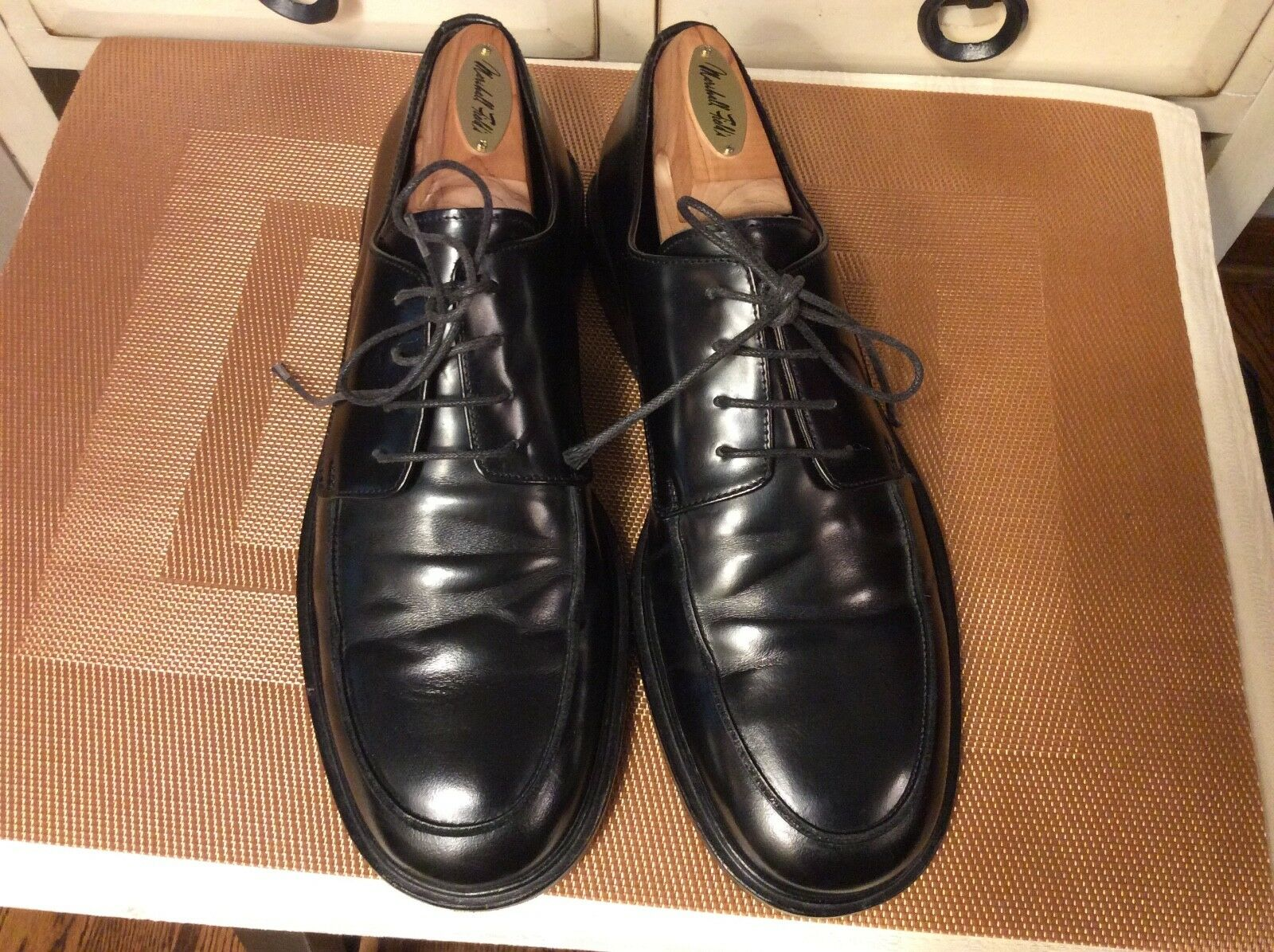 TO BOOT NEW YORK Adam Derrick Mens Black Patent leather Size 7  Oxfords