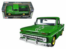 MOTORMAX 1966 CHEVROLET C10 FLEETSIDE PICKUP TRUCK 1/24 DIECAST GREEN 73355