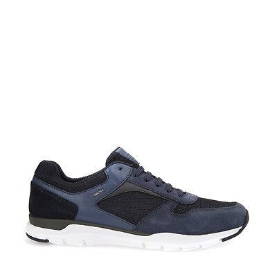 GEOX CALAR U722GA Scarpe uomo sneakers in camoscio e tela NavyDk. Navy   eBay