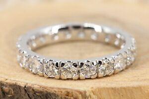 Memory-Ring-750-Diamant-18K-Weissgold-20-Brillanten-2-01ct-VS1-SI2-H-Groesse-55