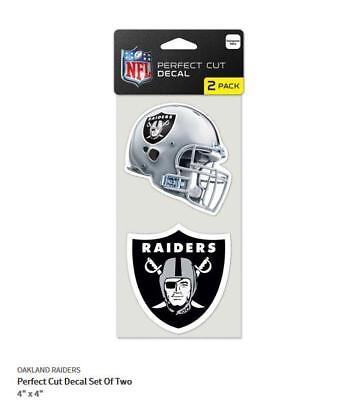 Humorvoll Oakland Raiders 2 Aufkleber Helm + Logo Decal Badge Emblem Nfl Football Zu Den Ersten äHnlichen Produkten ZäHlen