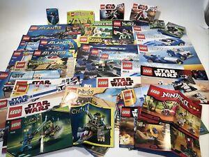 Lego Manuals Lot 40+ Star Wars Creator Atlantis Minecraft City Kingdom + More!