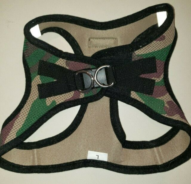 Camouflage Dog Harness Brown Green Pet Size Large Canine