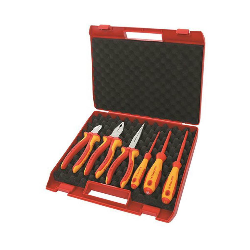 Knipex 1000V Alicates & Destornillador 6pc Set-Knipex Herramientas de calidad eléctrica de comercio