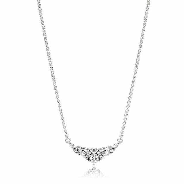 Valentines Day Gift Pandora Fairytale Tiara Necklace Princess 925 Cz 396227 45cm For Sale Online Ebay
