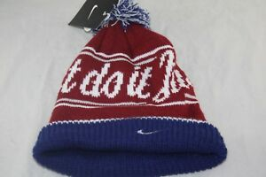 super popular 60290 b74dd Image is loading NIKE-BEANIE-632116-677-JUST-DO-IT-UNISEX-