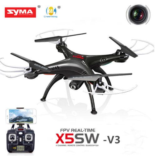 Syma X5SW-V3 2.4Ghz 4CH RC Quadcopter Wifi FPV Drone with Camera RTF Black