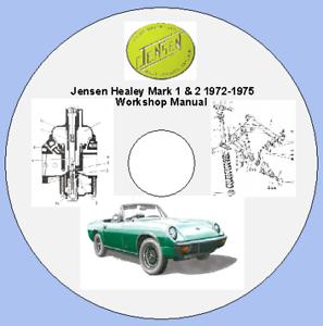 Jensen Healey Mark 1 /& 2 1972-1975 Workshop Manual