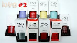 CND-Shellac-GelColor-Nail-Polish-Base-Top-Brand-New-Gel-Color-2-Choose-Any