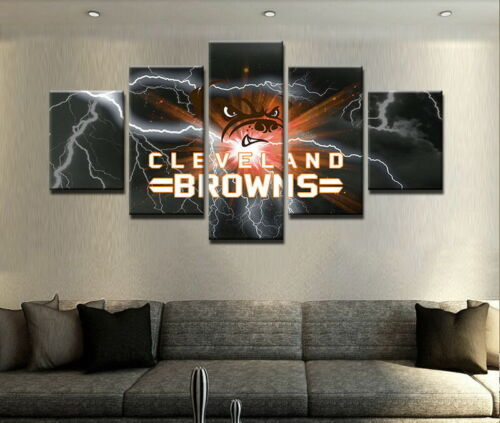 Cleveland Browns Football 5 Pcs Painting Canvas Wall Art Poster Home ...