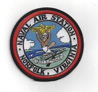 NAS NORFOLK PATCH US NAVAL AIR STATION NAVY PIN UP CAG WING NAVES SUSTINEMUS WOW