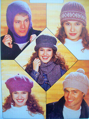 #241 MENS BOYS DK GLOVES WITH//OUT FINGERS /& BALACLAVA/'S VINTAGE KNITTING PATTERN