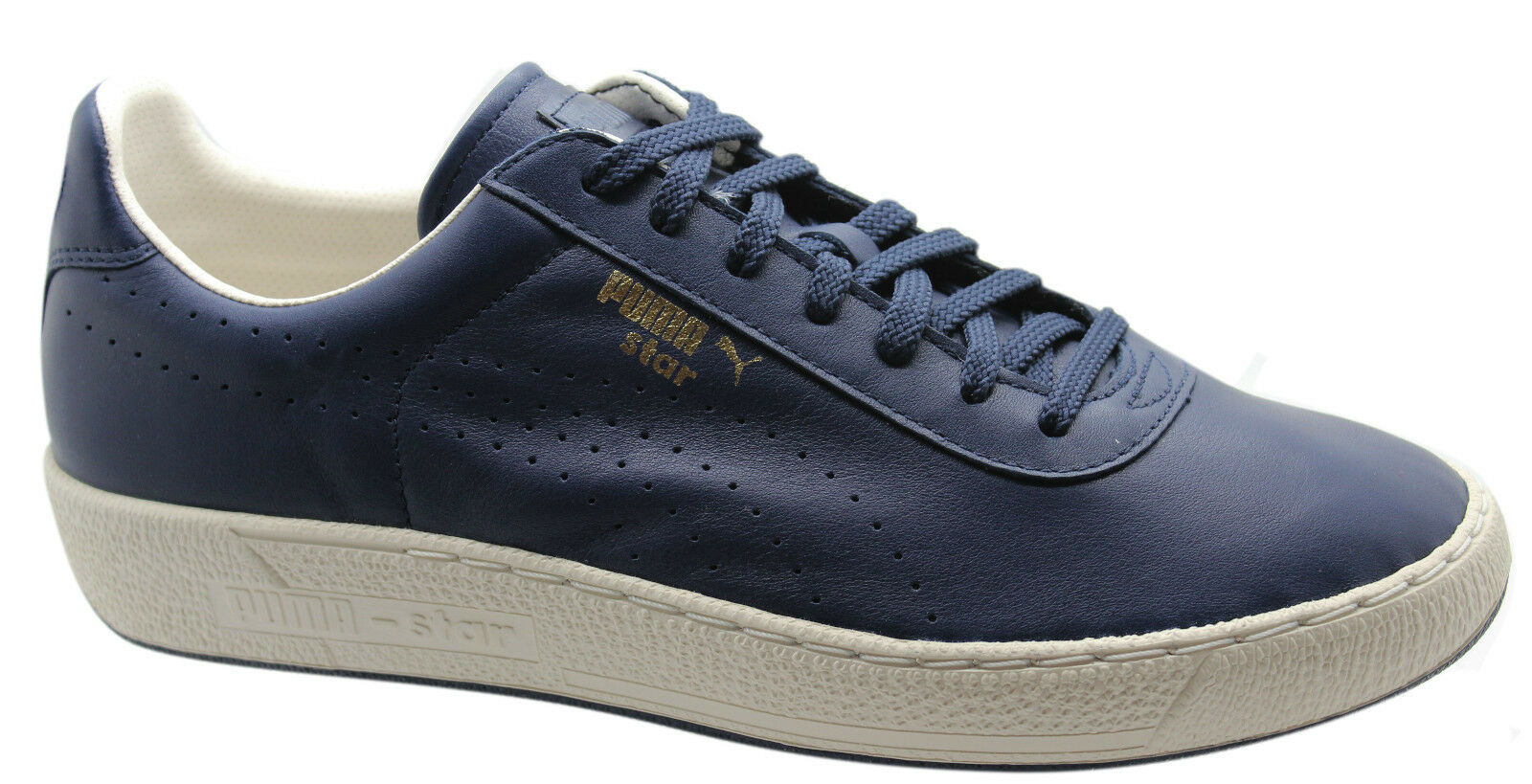 Puma Star Mens Trainers Low shoes Navy bluee Leather Lace Up 357763 03 U70