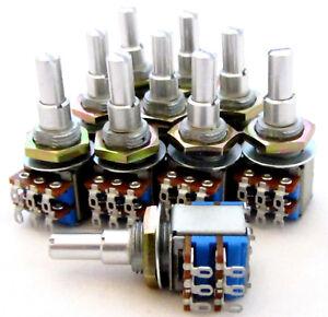 10-Lot-Tocos-Concentric-Pot-A250K-A3K-Dual-Audio-Taper-Potentiometer-250K-3K-BY