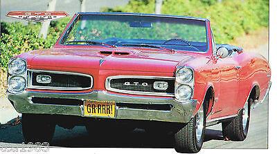 1966 Pontiac Gto / G. T. O. Spec Foglio/brochure: '66 Tri -potenza