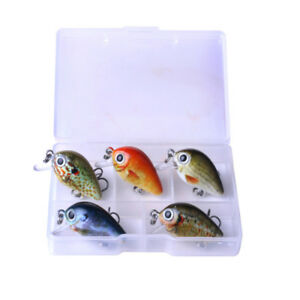 10pc//pack Fishing Lure Floating Popper Bait Bass Crankbait With 6# Hook Assorted